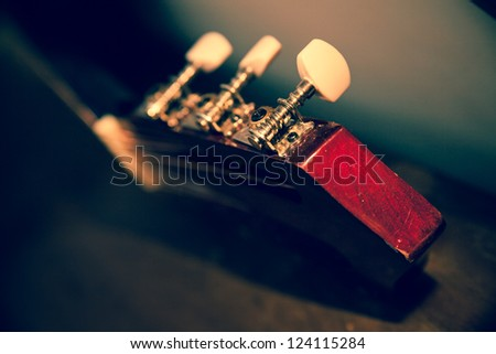 Guitar detail. Music concept - stock photo