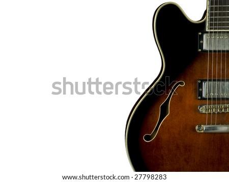 guitar, electriuc guitar - stock photo