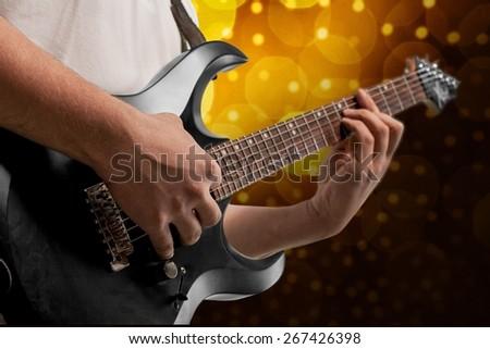 Guitar. Guitarist - stock photo