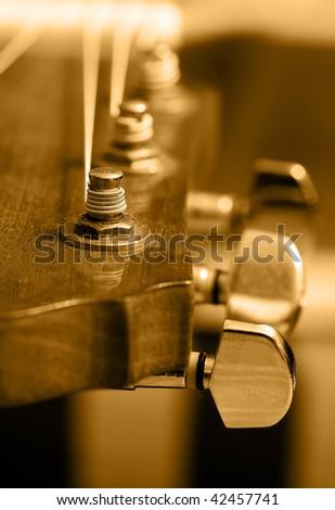 Guitar head - stock photo