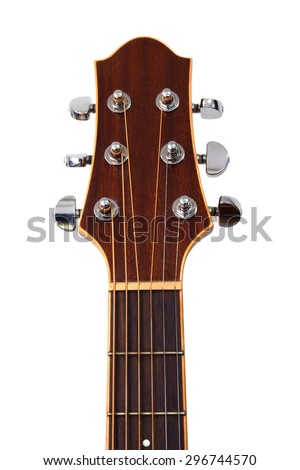 guitar headstock isolated on white