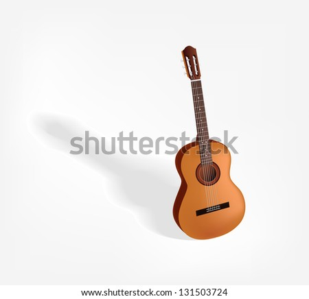 Guitar. Its a raster version. Vector search in my portfolio. - stock photo