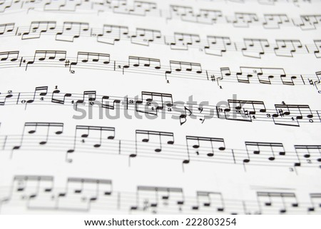 Guitar music sheet. Good file for musical backgrounds - stock photo