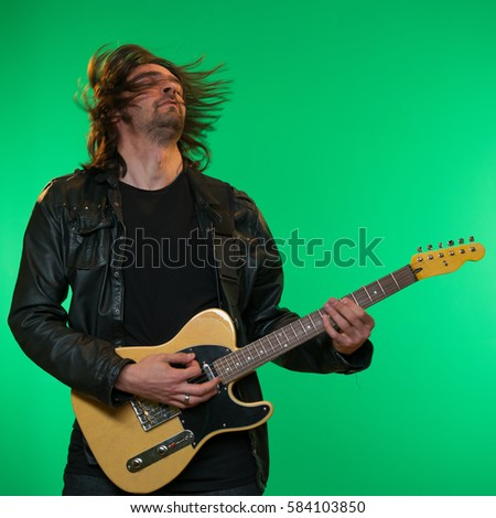 guitar player, guitarist, musician, rock music, guitar, leather jacket