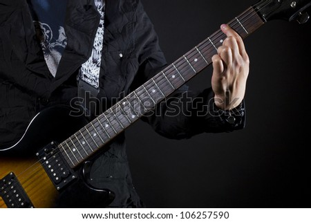 guitar power chords Bar - stock photo