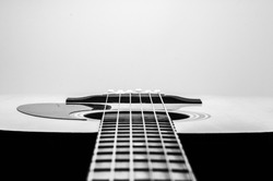 Acoustic Guitar Black And White Photography