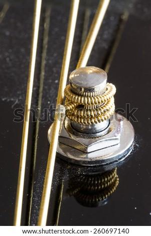 Guitar strings (soft focused) - stock photo