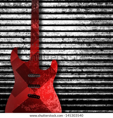 Guitar  texture background in color - stock photo