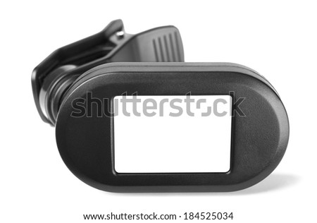 Guitar tuner on a white background - stock photo