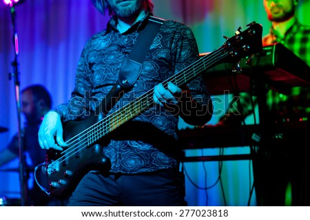 Guitarist on stage - stock photo