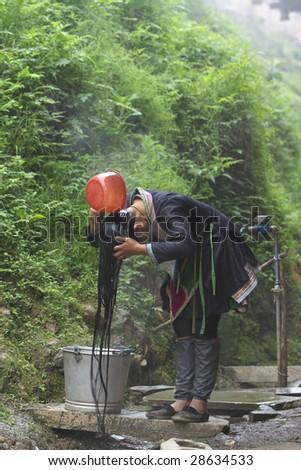 Guizhou Miao national minority - stock photo
