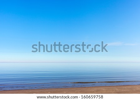Gulf of Riga, Baltic in nice summer day. - stock photo