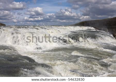 Gullfoss waterfall - stock photo