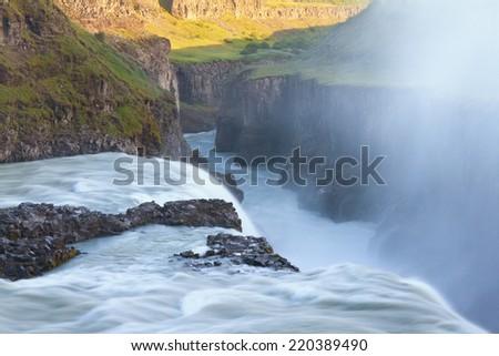 Gullfoss Waterfall, Iceland - stock photo