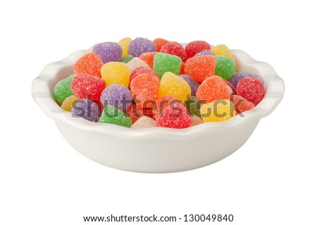 Gum Drops Isolated on a white background - stock photo