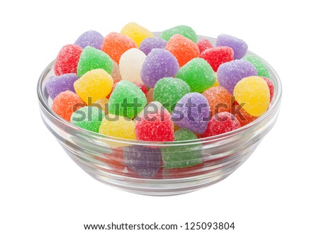 Gum Drops Isolated with clipping path on a white background - stock photo