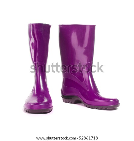Gumboots. Isolated on white. Close-up. - stock photo