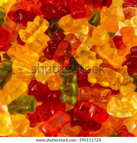 Gummy bear background - stock photo