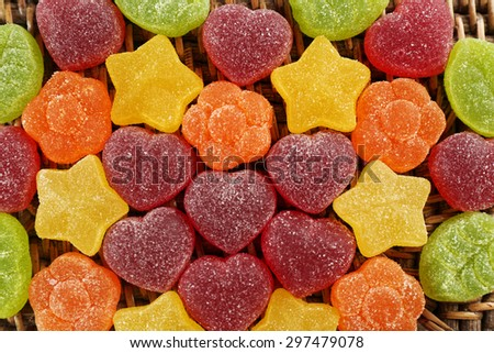 Gummy candies close up - stock photo