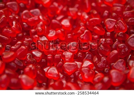Gummy hearts - stock photo