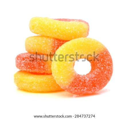 Gummy rings shaped cutter, isolated on white background - stock photo