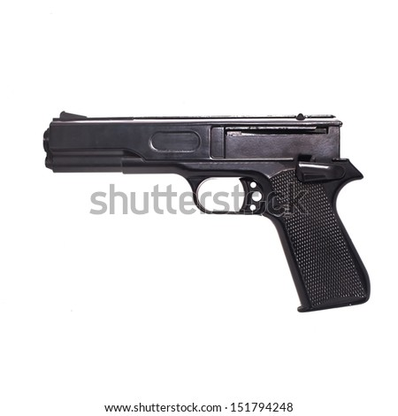 gun air soft extreme game  - stock photo
