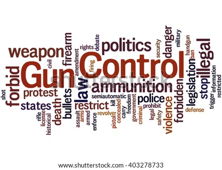 gun control word cloud concept on stock illustration  gun control word cloud concept on white background
