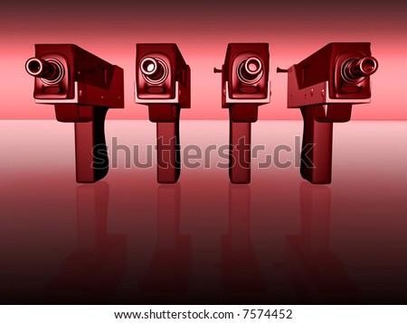 Gun 3d concept illustration - stock photo