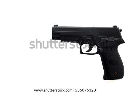 Gun glock on white background isolated