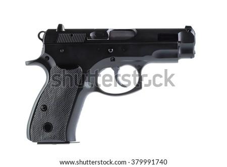 gun isolate on white - stock photo