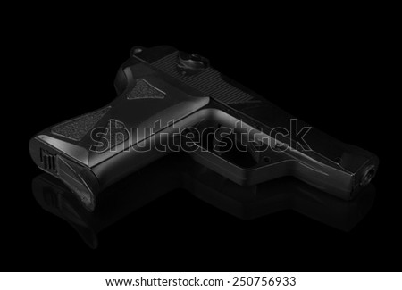 Gun isolated on black background
