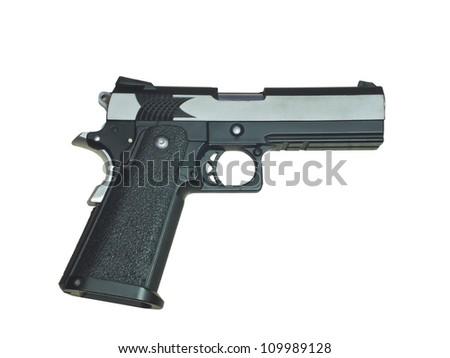 gun isolated on white - stock photo