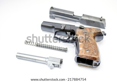 gun isolated on white background