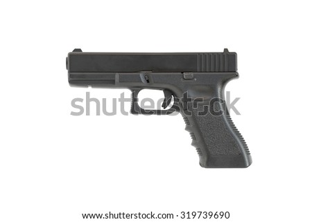 Gun isolated on white background, Concept for article