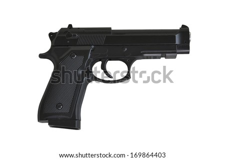 gun on white background, isolated