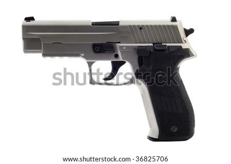 Gun on white background isolated - stock photo