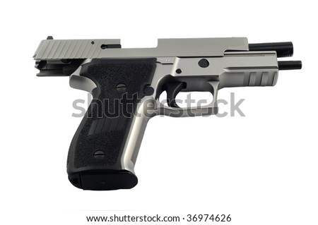 Gun on white background isolated