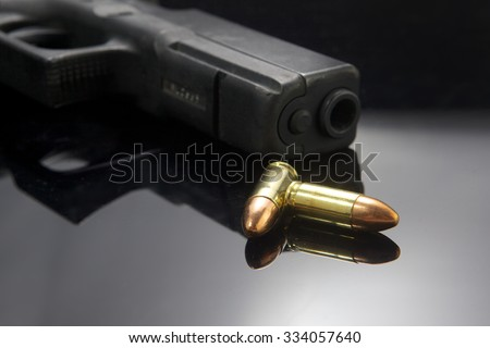 Gun pistol - stock photo