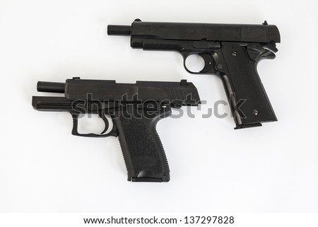 gun, pistol, on white background