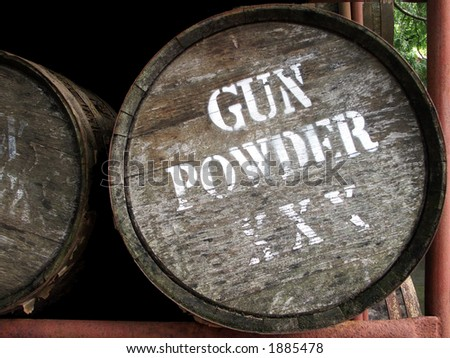 Gun Powder Barrel - True remnants of past power. - stock photo