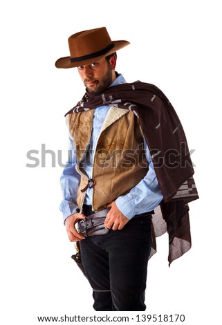 Gunman in the old wild west - stock photo