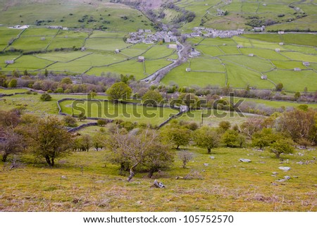 Gunnerside in the Yorkshire Dales National Park. - stock photo