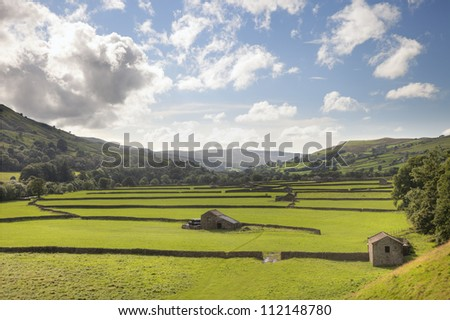 Gunnerside, Swaledale, Yorkshire Dales, England - stock photo