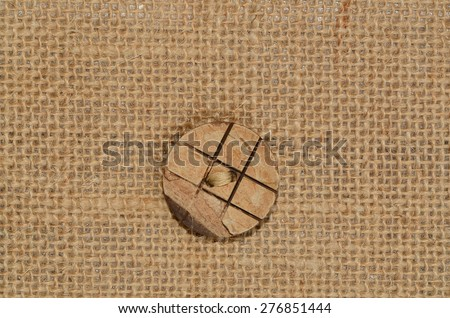 Gunny sack are made from natural fibres and they are considered environment friendly materials / Gunny sack / Though replaced by synthetic fibres, many uses around the house  and some are collectibles - stock photo