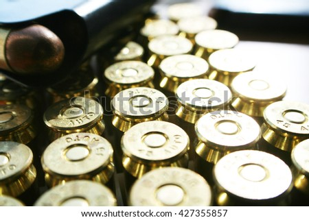 Guns & Ammo .45 ACP With Magazine Stock Photo High Quality