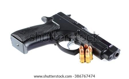 Guns and ammunition - stock photo