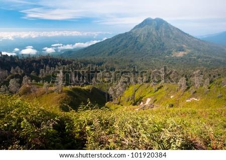 Gunung Merapi Volcano on Java Island in Indonesia - stock photo