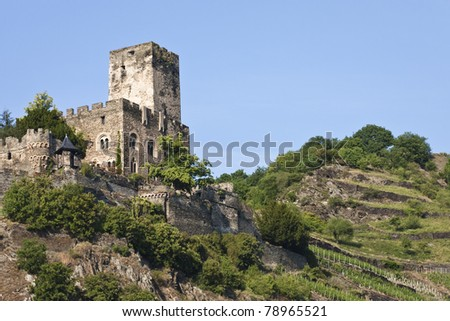 Gutenfels Castle in Germany - stock photo