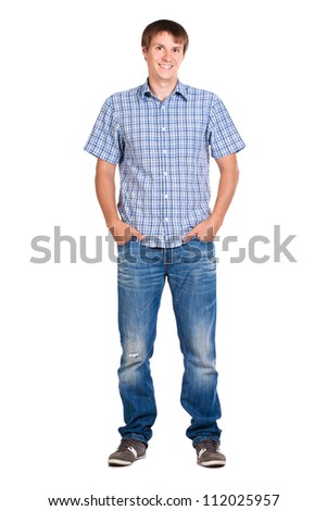 guy in a checkered shirt, isolated