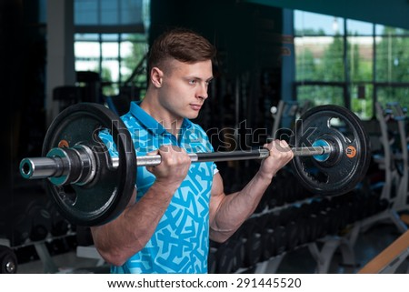 guy in training with a barbell